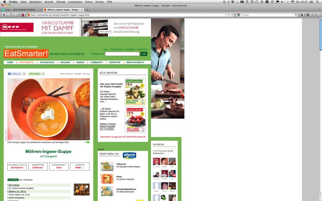 Grafik Design Online-Portal Seite 1