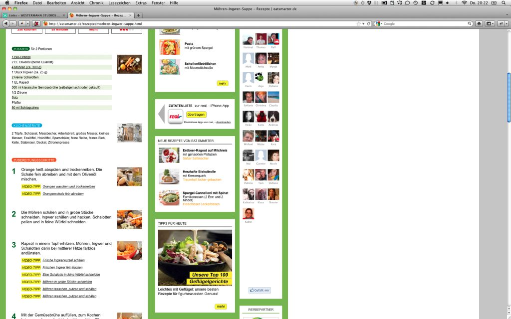 Grafik Design Online-Portal Seite 2