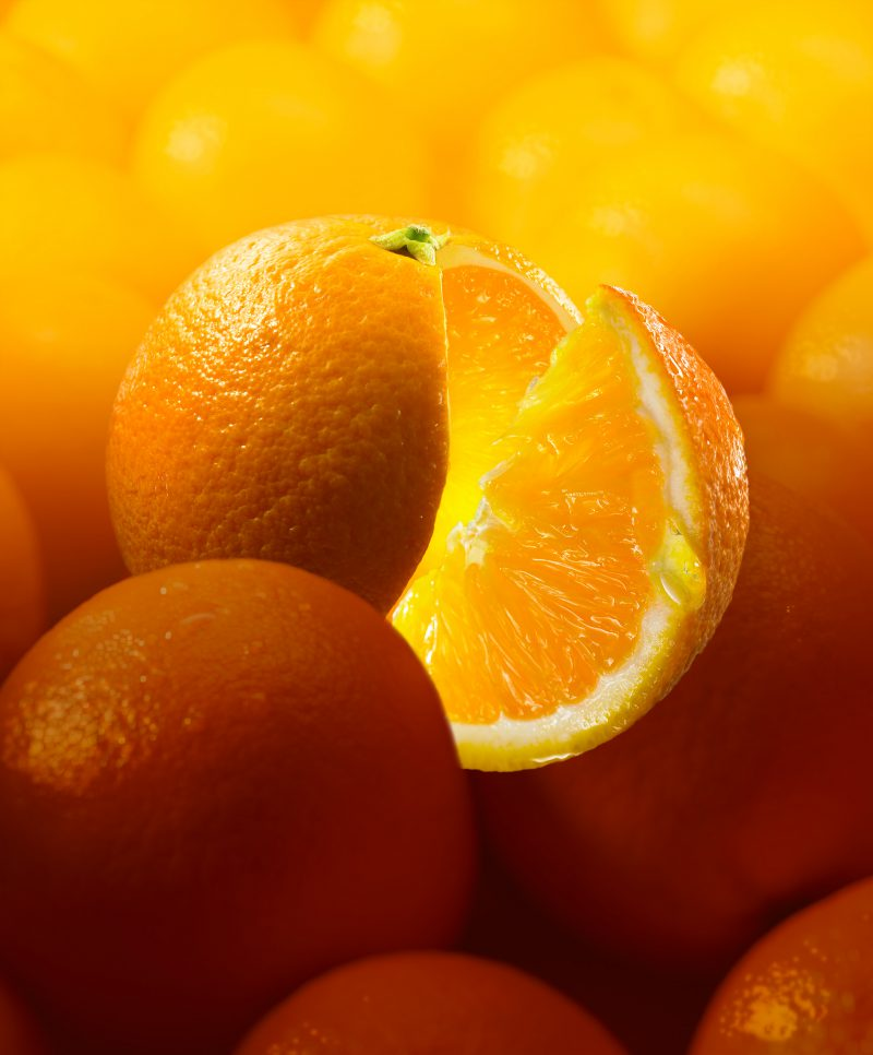 Bildbearbeitung Orange