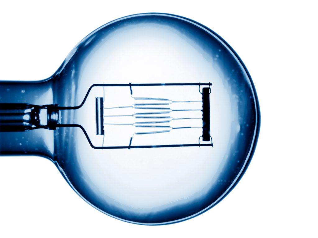 Bildbearbeitung Glühlampe