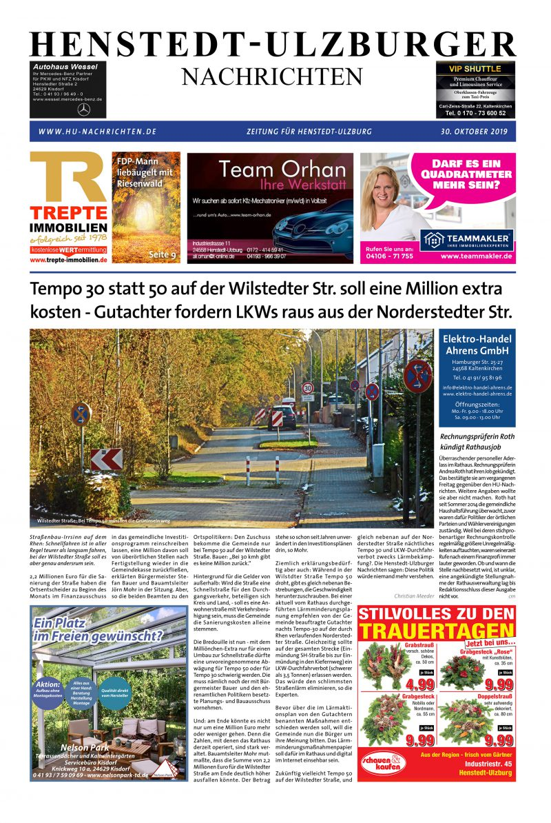 Grafik Design Lokalzeitung Titel